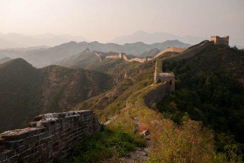 Sunset on Jinshanling
