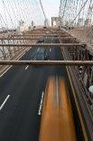 Traffic on the Brooklyn Bridge