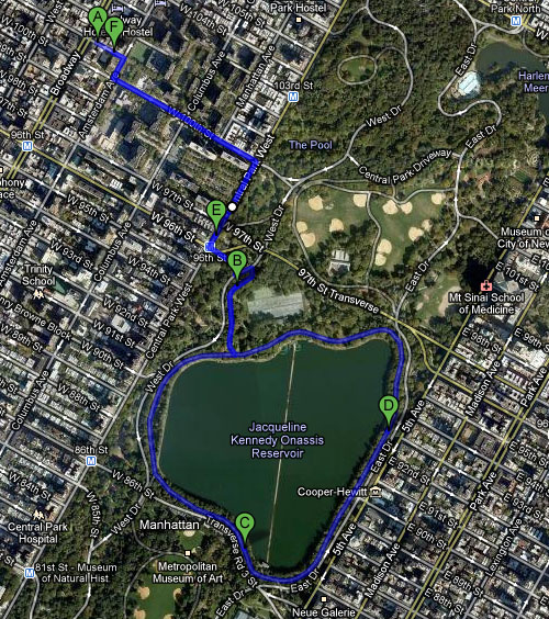 Running track in Central Park